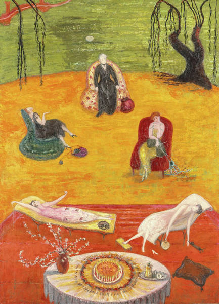 Wall Art - Painting - Heat, 1919 by Florine Stettheimer