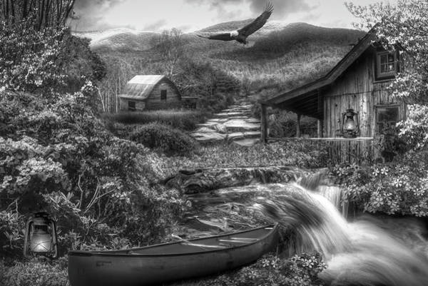 Photograph - Heaven On Earth In The Mountains In Black And White  by Debra and Dave Vanderlaan