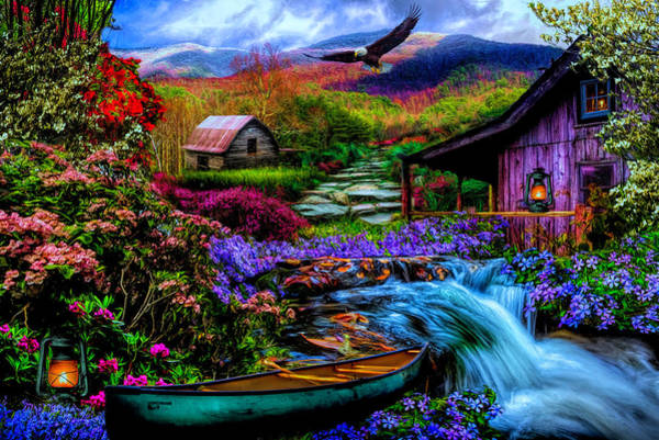 Digital Art - Heaven On Earth In The Mountains In Hdr Detail by Debra and Dave Vanderlaan