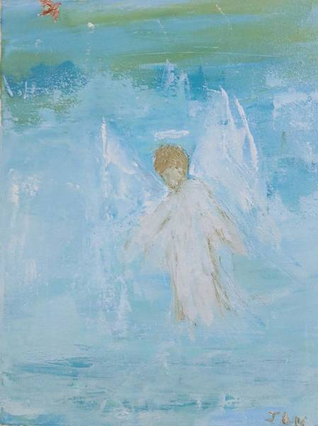 Painting - Heavenly Angel Child by Jennifer Nease