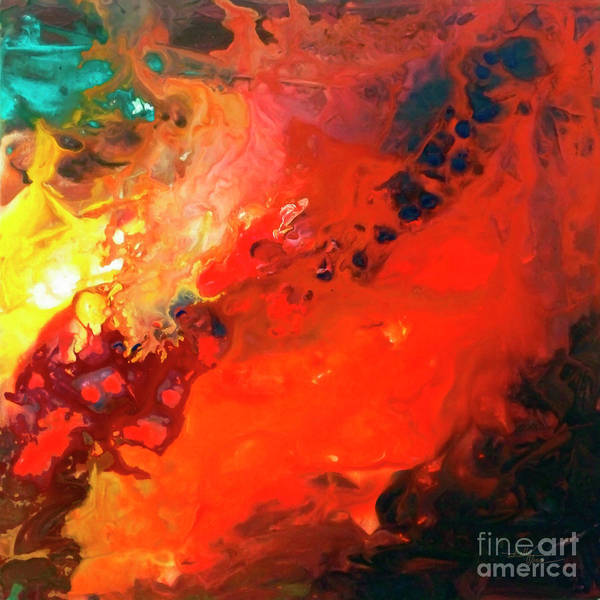 Painting - Heavenly Fire Canvas Three by Sally Trace