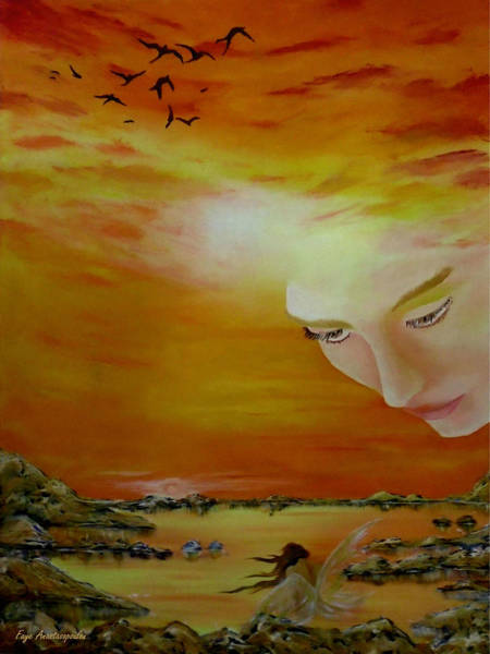 Angelic Beings Painting - Heavenly Protection by Faye Anastasopoulou