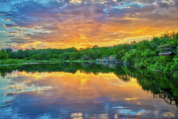 Wall Art - Photograph - Heavenly Reflections In The Hill Country by Lynn Bauer