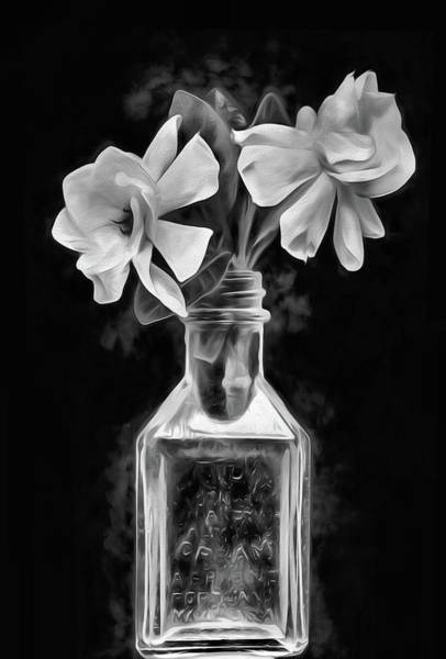 Digital Art - Heavenly Scents Still Life Black And White by JC Findley