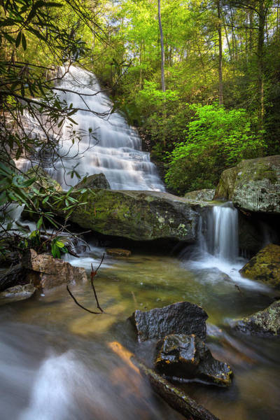 Photograph - Heavenly Waterfall by Debra and Dave Vanderlaan