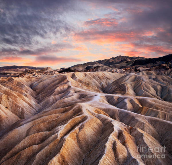 Wall Art - Photograph - Heavily Eroded Ridges At Zabriskie by Doug Lemke