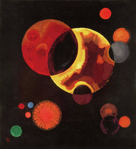 Wall Art - Painting - Heavy Circles by Wassily Kandinsky