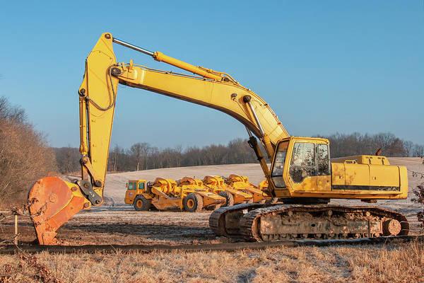 Subdivision Photograph - Heavy Equipment by Todd Klassy