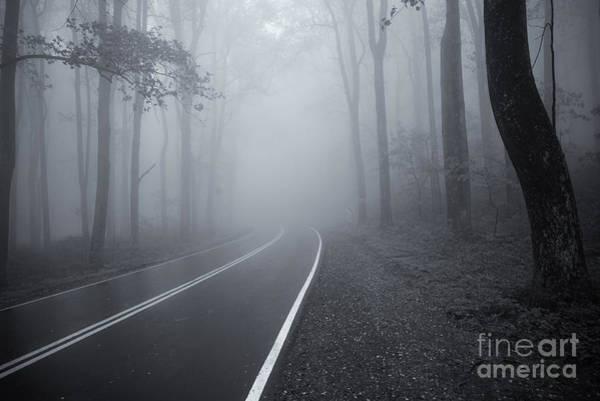 Photograph - Heavy Fog Ahead Mono 2 by Rachel Cohen