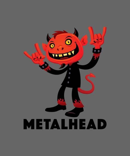 Satan Digital Art - Heavy Metal Devil Metalhead by John Schwegel