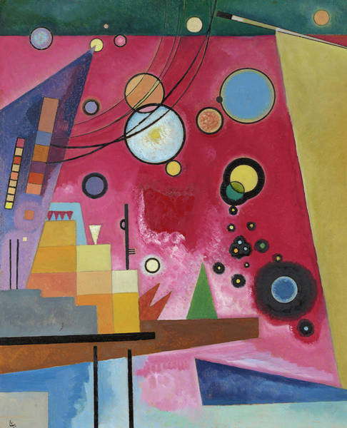 Wall Art - Painting - Heavy Red, 1924 by Wassily Kandinsky