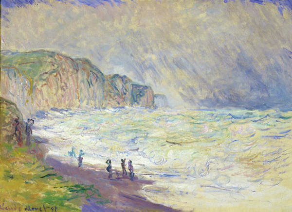 Wall Art - Painting - Heavy Sea At Pourville - Digital Remastered Edition by Claude Monet