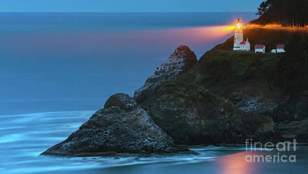 Wall Art - Photograph - Heceta Head Light Lighthouse, Oregon by Henk Meijer Photography
