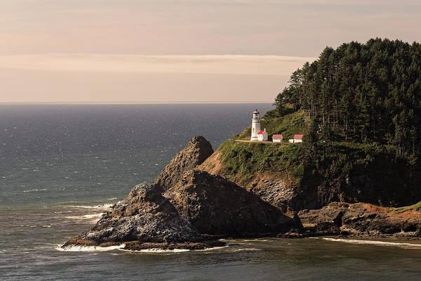 Heceta Head Lighthouse Photograph - Heceta Head Lighthouse by Adam Jones