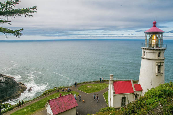 Photograph - Heceta Head Lighthouse And The Pacific by Matthew Irvin