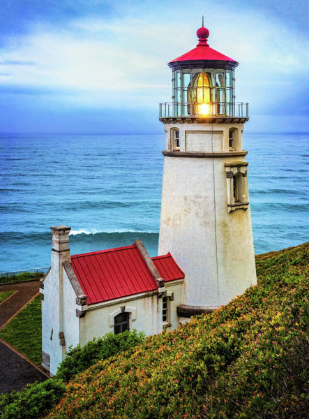 Photograph - Heceta Head Lighthouse by Carolyn Derstine