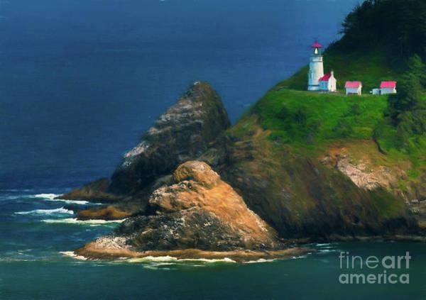 Photograph - Heceta Head Lighthouse by Doug Sturgess