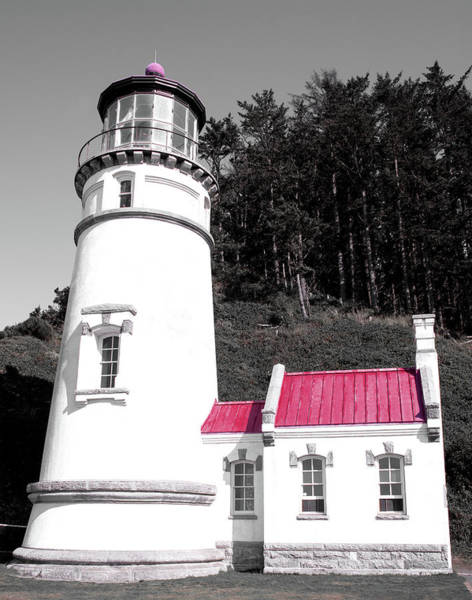 Photograph - Heceta Head Lighthouse Red 122618 by Rospotte Photography
