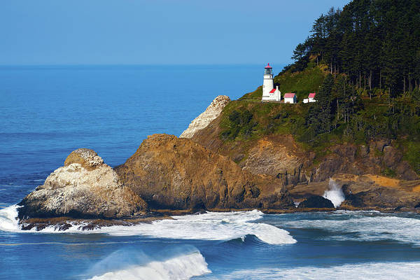 Photograph - Heceta Head Lighthouse V2 071819 by Rospotte Photography