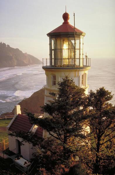 Heceta Head Lighthouse Photograph - Heceta Head Lighthouse by Wbritten