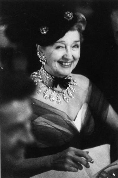 Smiling Photograph - Hedda Hopper by Slim Aarons