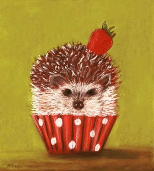 Painting - Hedgehog Cupcake by Anastasiya Malakhova