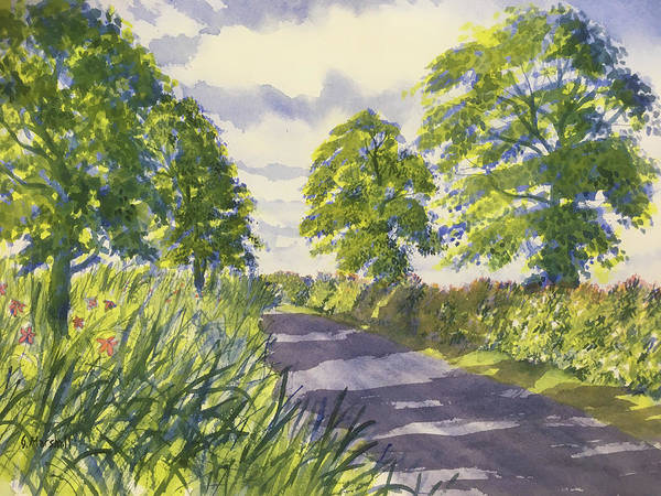 Painting - Hedgerows On Rudston Road by Glenn Marshall