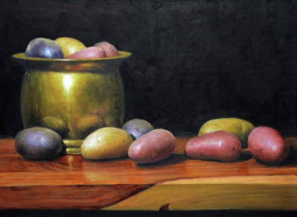 Potato Painting - Heirloom Potatoes by Armand Cabrera