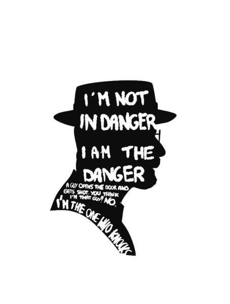 Wall Art - Digital Art - Heisenberg Is The Danger by Uwaki Art