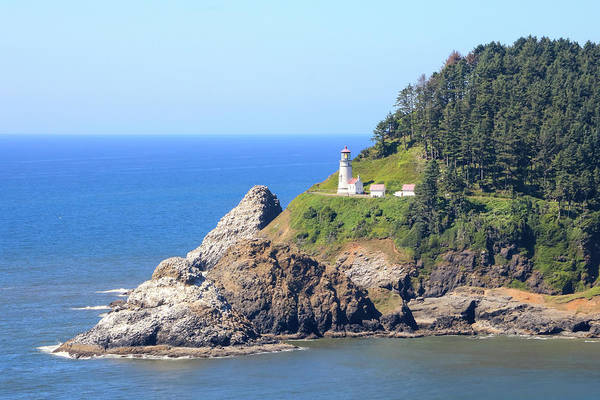 Photograph - Helceta Head Lighthouse, Oregon by Dawn Richards