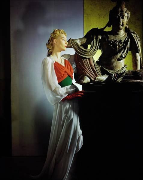 Photograph - Helen Bennett In Bergdorf Goodman by Horst P. Horst
