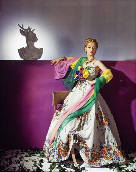 Photograph - Helen Bennett In Salon Moderne by Horst P. Horst