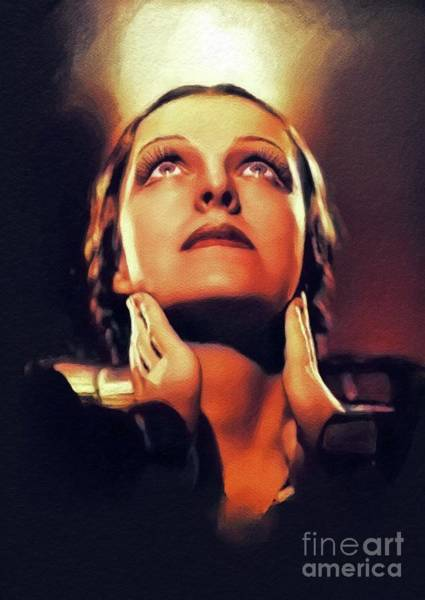 Wall Art - Painting - Helen Gahagan Douglas, Vintage Actress by John Springfield