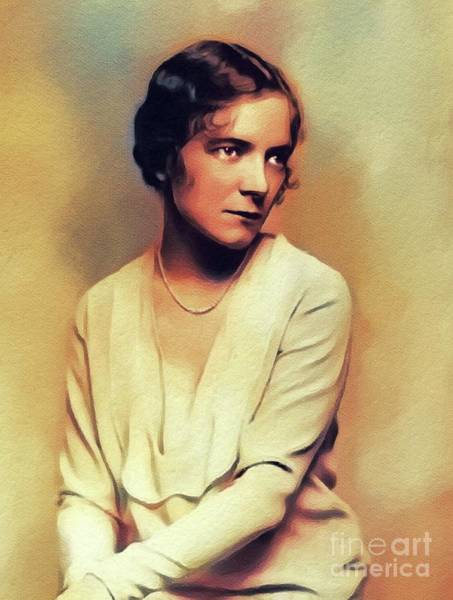 Wall Art - Painting - Helen Hayes, Vintage Actress by John Springfield