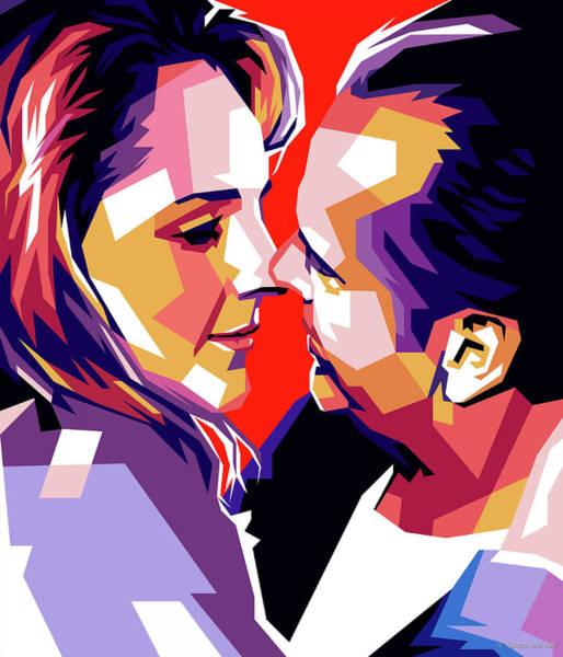 Digital Art - Helen Hunt And Jack Nicholson by Stars on Art