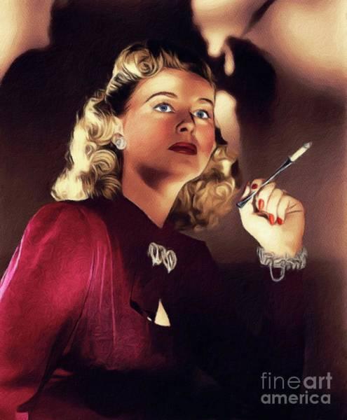 Walkers Painting - Helen Walker, Vintage Actress by John Springfield
