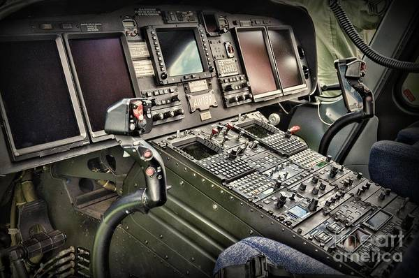 Wall Art - Photograph - Helicopter Instrument Panel Of The Aw139 by Paul Ward