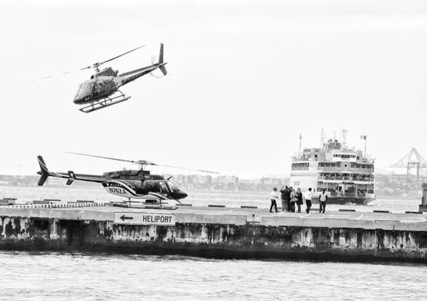 Photograph - Heliport Dance by Cate Franklyn