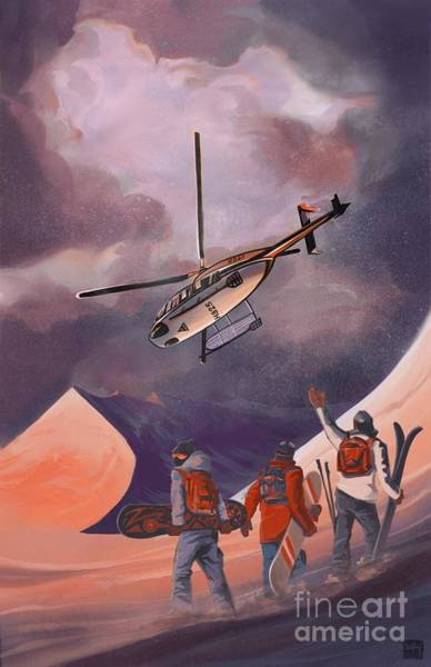 Painting - Heliski by Sassan Filsoof