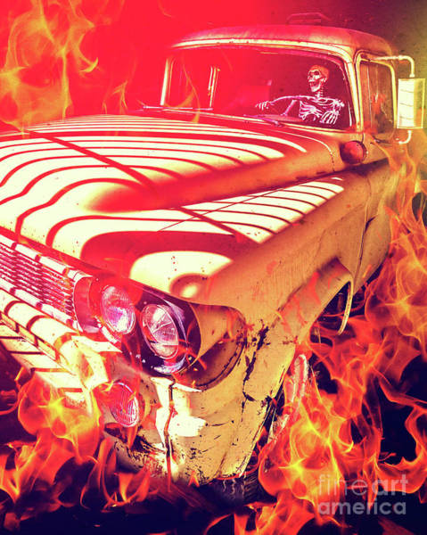 Fire Truck Photograph - Hell Rider by Edward Fielding