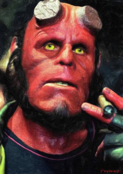 Painting - Hellboy by Zapista Zapista