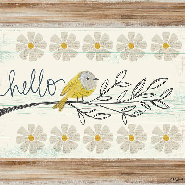 Wall Art - Mixed Media - Hello Canary by Katie Doucette