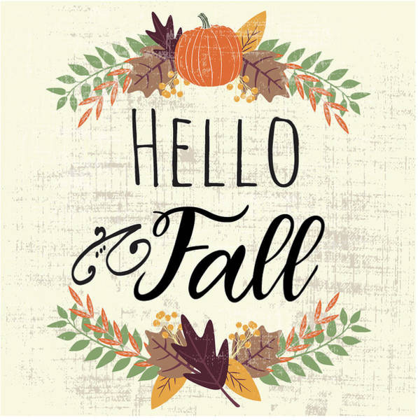 Wall Art - Digital Art - Hello Fall by Nd Art