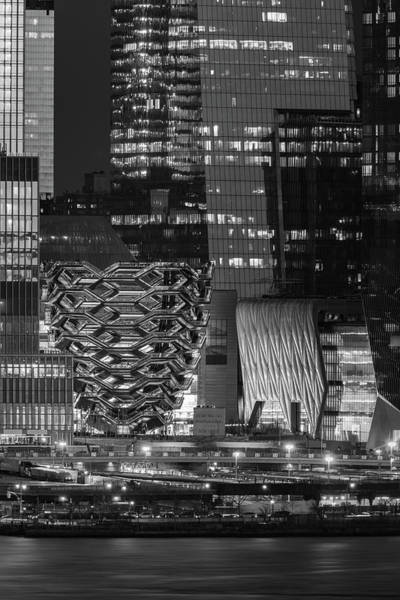 Photograph - Hello Hudson Yards Nyc Bw by Susan Candelario