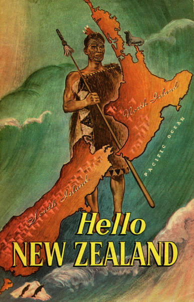 Indigenous People Photograph - Hello New Zealand by Jim Heimann Collection
