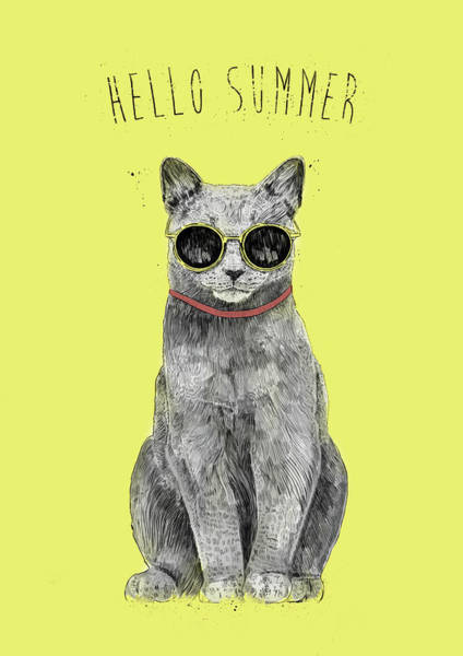 Wall Art - Drawing - Hello Summer  by Balazs Solti