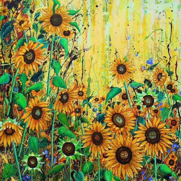 Wall Art - Painting - Hello Sunshine by Angie Wright
