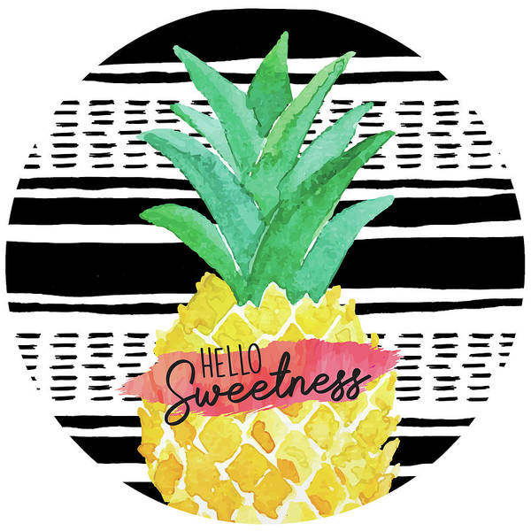Pineapple Digital Art - Hello Sweetness Plate by Nd Art