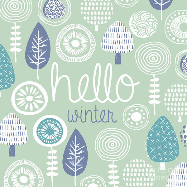 Wall Art - Digital Art - Hello Winter Leaves Flowers And Fall by Maaike Boot