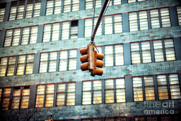 Photograph - Hell's Kitchen Traffic Light In New York City by John Rizzuto
